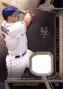 2015 Topps Tier One Relics David Wright Game Worn Jersey Baseball Card