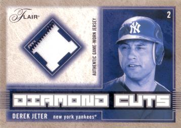 Derek Jeter Game Worn Jersey Card