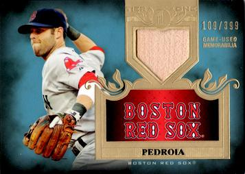 Dustin Pedroia Game Used Bat Card