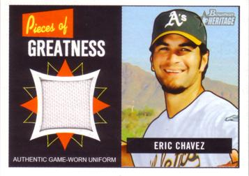 Eric Chavez Game Worn Jersey Card