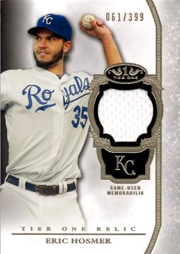 Eric Hosmer Game Worn Jersey Card