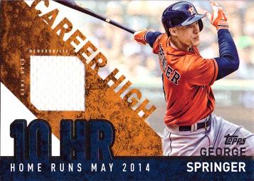George Springer Game Worn Jersey Card