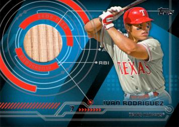 2014 Topps Relics Ivan Rodriguez Game Used Bat Baseball Card
