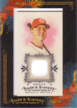 Jay Bruce Game Worn Jersey Card