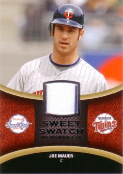 Joe Mauer Game Worn Jersey Card