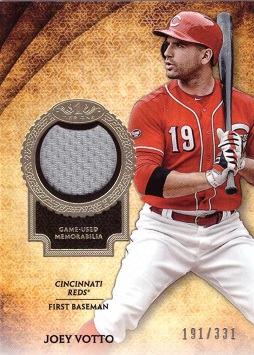 Joey Votto Game Worn Jersey Baseball Card