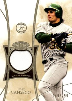 Jose Canseco Game Worn Jersey Card