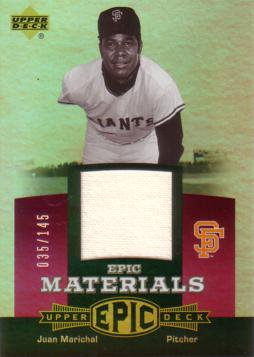 Juan Marichal Game Worn Jersey Card