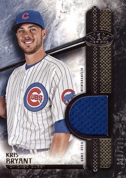 2016 Topps Tier One Kris Bryant Game Worn Jersey Baseball Card