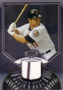 Lance Berkman Game Worn Jersey Card