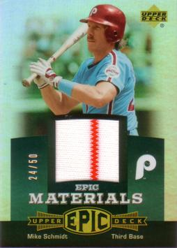 Mike Schmidt Game Worn Jersey Card