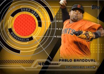 Pablo Sandoval Game Worn Jersey Baseball Card