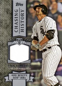 Paul Konerko Game Worn Jersey Baseball Card