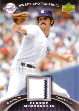 Ron Guidry Game Worn Jersey Card