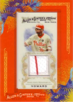 Ryan Howard Game Worn Jersey Card