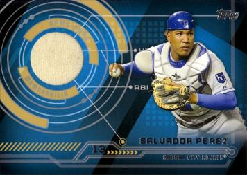 Salvador Perez Game Worn Jersey Baseball Card