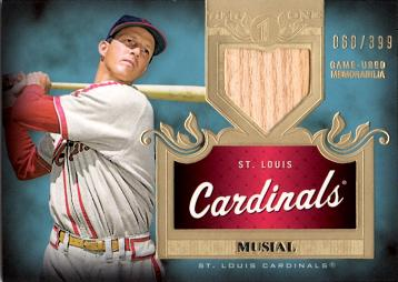 Stan Musial Game Used Bat Baseball Card