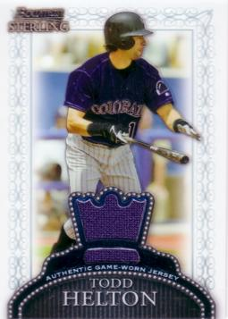 Todd Helton Game Worn Jersey Card