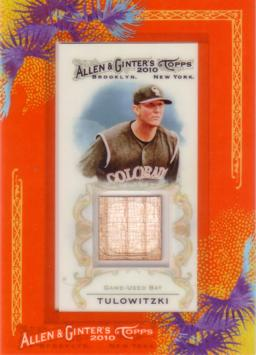 Troy Tulowitzki Game Used Bat Card