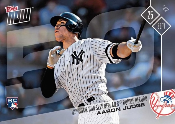 Aaron Judge Hits 50 Home Run Record Breaker Baseball Rookie Card