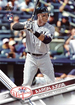 Aaron Judge 2017 Topps Update Rookie Card
