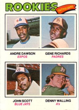 1977 Topps Andre Dawson Rookie Card
