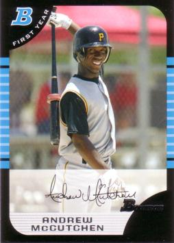 2005 Bowman Draft Picks Andrew McCutchen Rookie Card