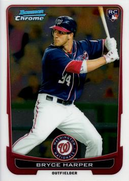 Bryce Harper Bowman Chrome Rookie Card