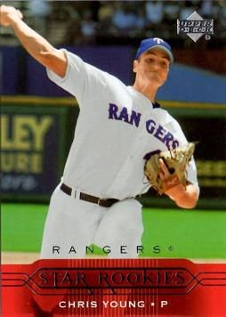 Chris Young Star Rookies Card Pitcher