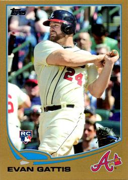 Evan Gattis Topps Gold Rookie Card