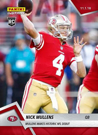 Nick Mullens Rookie Card