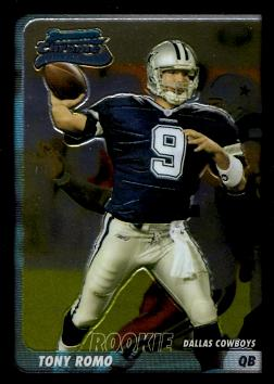 Tony Romo Bowman Chrome Rookie Card