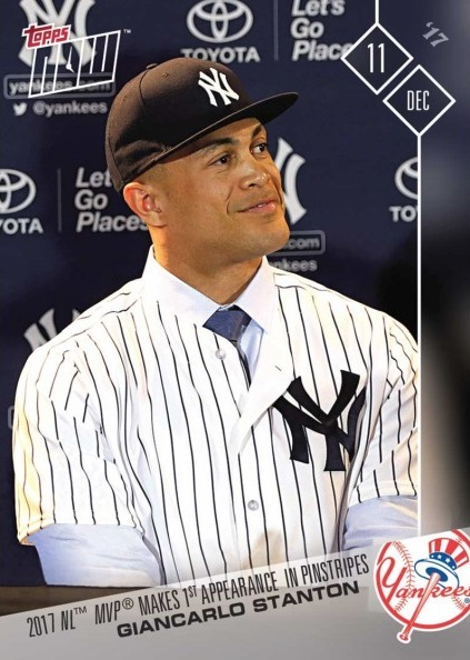 Giancarlo Stanton Yankees Baseball Card