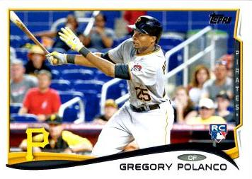 2014 Topps Update Baseball Gregory Polanco Rookie Card