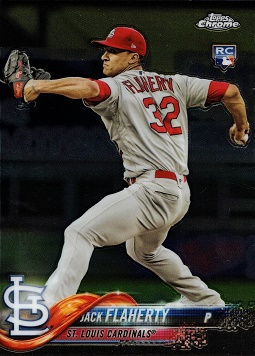 Jack Flaherty Topps Update Chrome Rookie Card