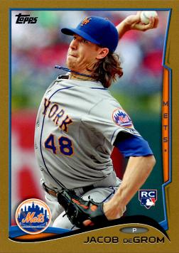 Jacob deGrom Topps Gold Rookie Card