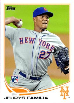 2013 Topps Jeurys Familia Rookie Card