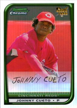 Johnny Cueto Bowman Chrome Refractor Rookie Card