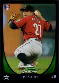 2011 Bowman Chrome Refractor Jose Altuve Baseball Rookie Card