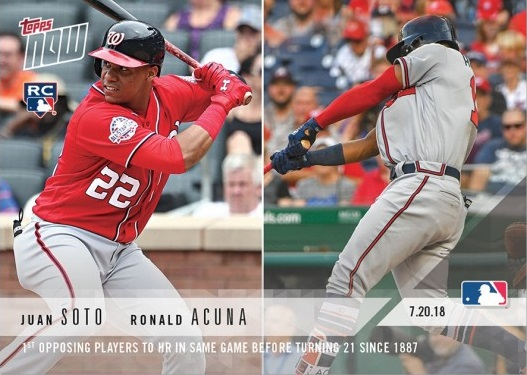 Juan Soto and Ronald Acuna Dual Rookie Card