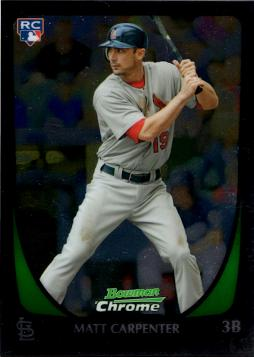 2011 Bowman Chrome Draft Picks Matt Carpenter Rookie Card