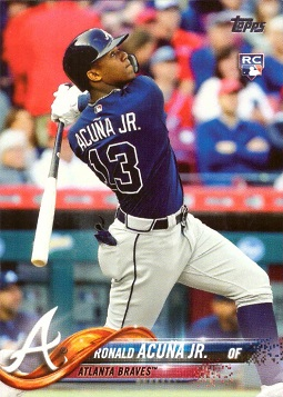 2018 Topps Baseball Ronald Acuna Rookie Card