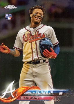 Ronald Acuna Topps Update Chrome Rookie Card