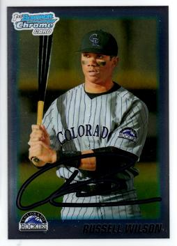 Russell Wilson 2010 Bowman Chrome Baseball Card