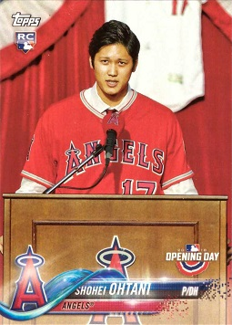Shohei Ohtani 2018 Topps Opening Day Rookie Card