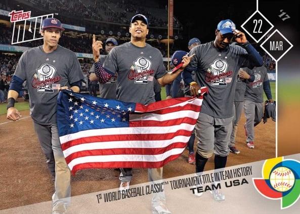 2017 Topps Now Team Usa Wins World Baseball Classic Baseball Card