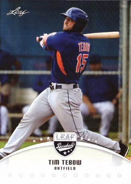 Tim Tebow New York Mets Baseball Card